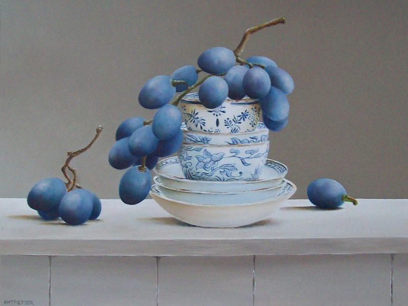 druiven in stapeling kommetjes
