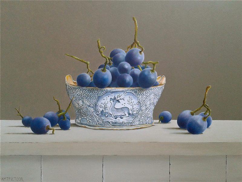druiven in 18e eeuws boterkuipje