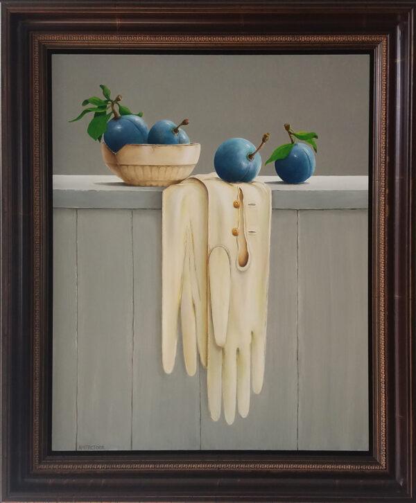 blauwe pruimen & dameshandschoenen