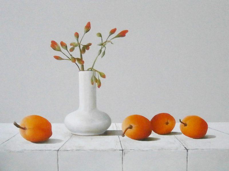 vaasje en abrikozen
