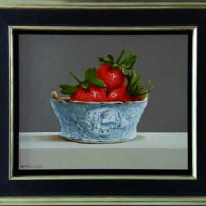 aardbeien in boterkuipje