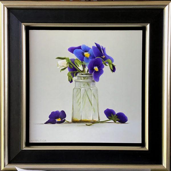 stilleven met viooltjes