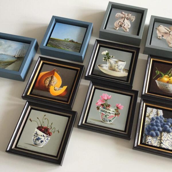 collectie olieverf schilderijtjes
